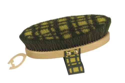 Pure Hair Plaid Coloured Body Brush